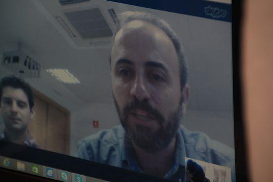 José Jesús Cstro intervino vía Skype desde Ciudad Real